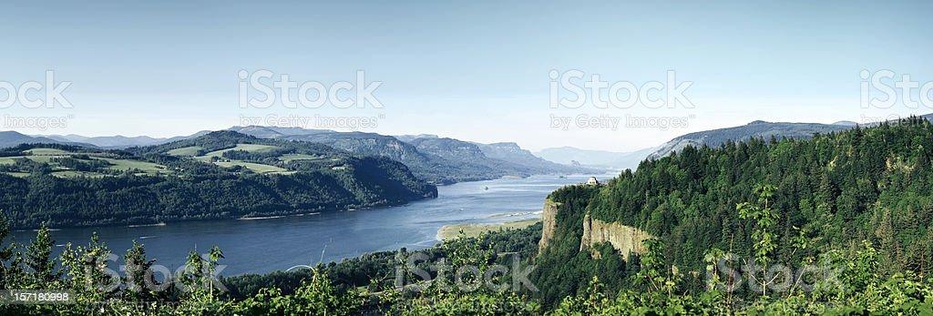 Panorama View of Columbia River Gorge, Oregon stock photo