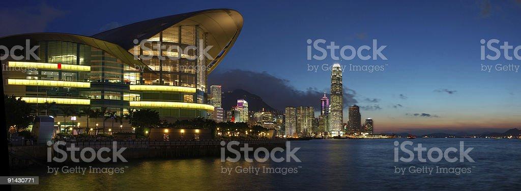 Panorama view of Hong Kong cityscape stock photo
