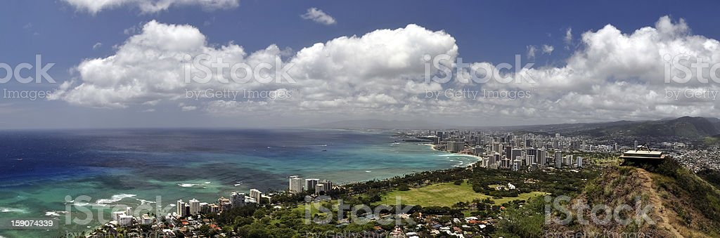 Panorama view of Honolulu - Hawaii, USA royalty-free stock photo