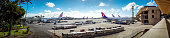Panorama view of Honolulu International Airport