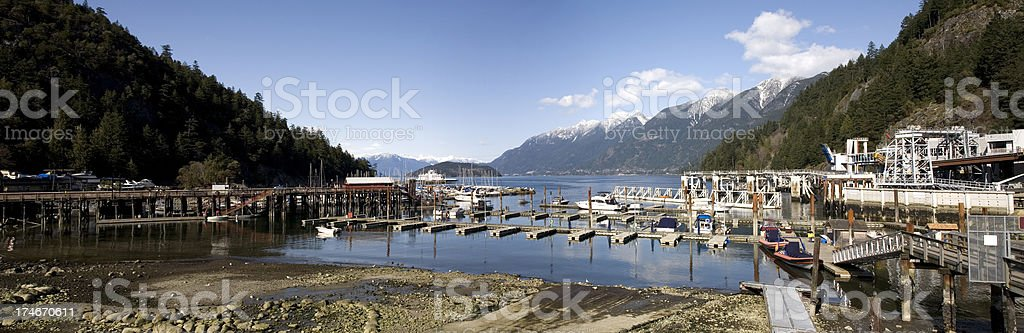Panorama view of Horseshoe bay stock photo
