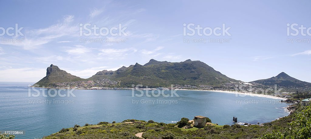 XL panorama view of Houtbaai royalty-free stock photo