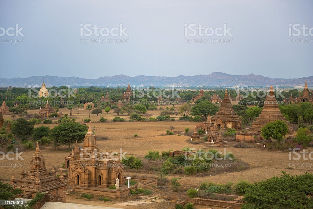 panorama view of Old Bagan, Burma royalty-free stock photo