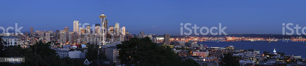 Panorama View of Seattle royalty-free stock photo