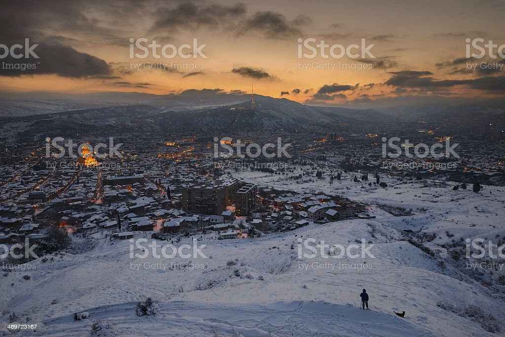 Panorama view of Tbilisi royalty-free stock photo