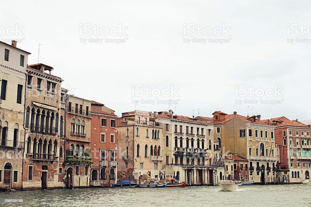 Panorama view of Venice, Italy stock photo