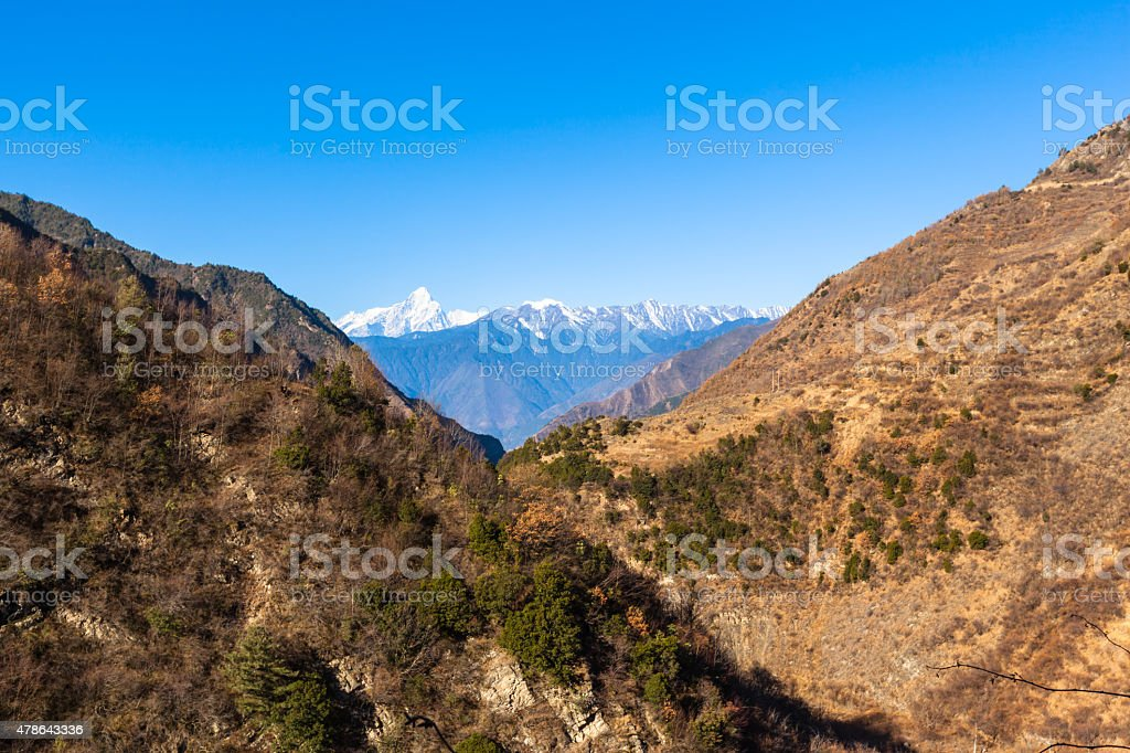 Panorama view on top of cattle back mountain stock photo