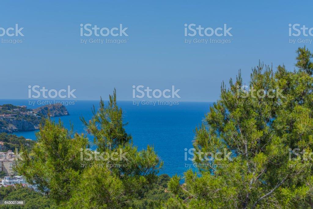 Panorama von der Bucht Paguera stock photo