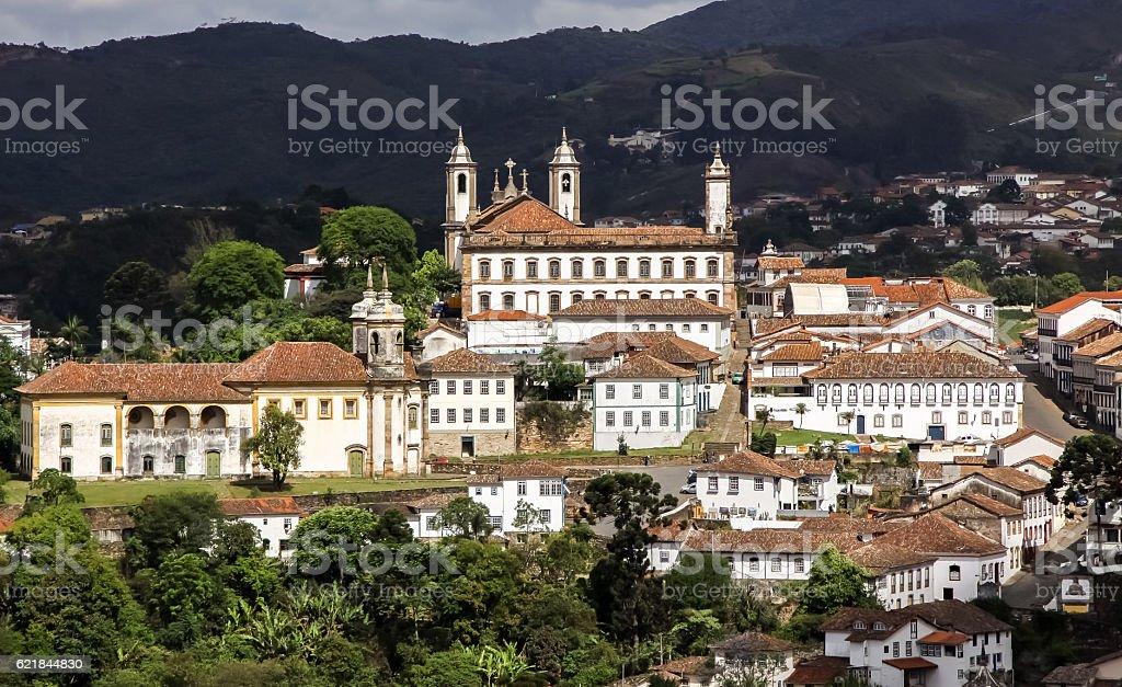 Panorama von Ouro Preto, Brasilien stock photo