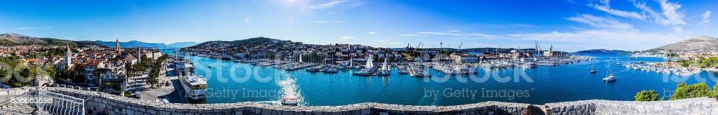 Panorama von Trogir-Dalmatien stock photo