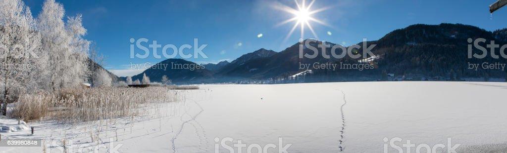 panorama weissensee stock photo