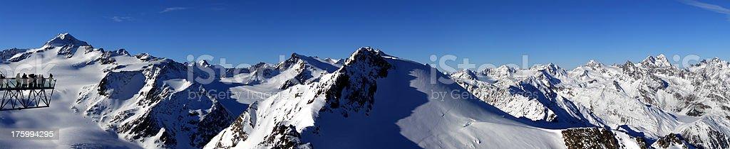 Panorama Wildspitze royalty-free stock photo