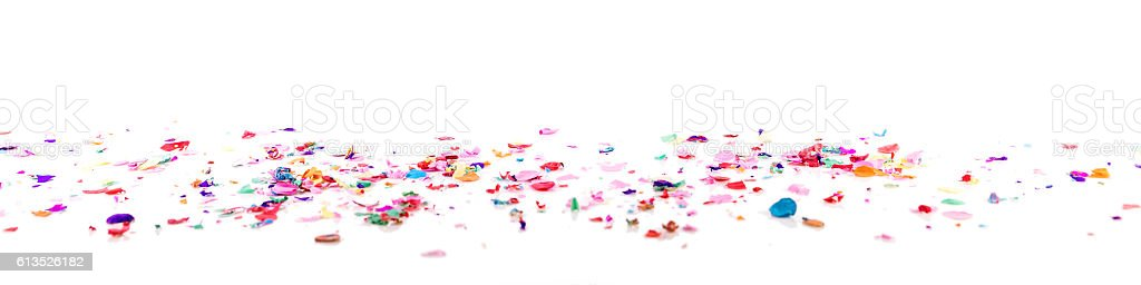 panorama with confetti stock photo