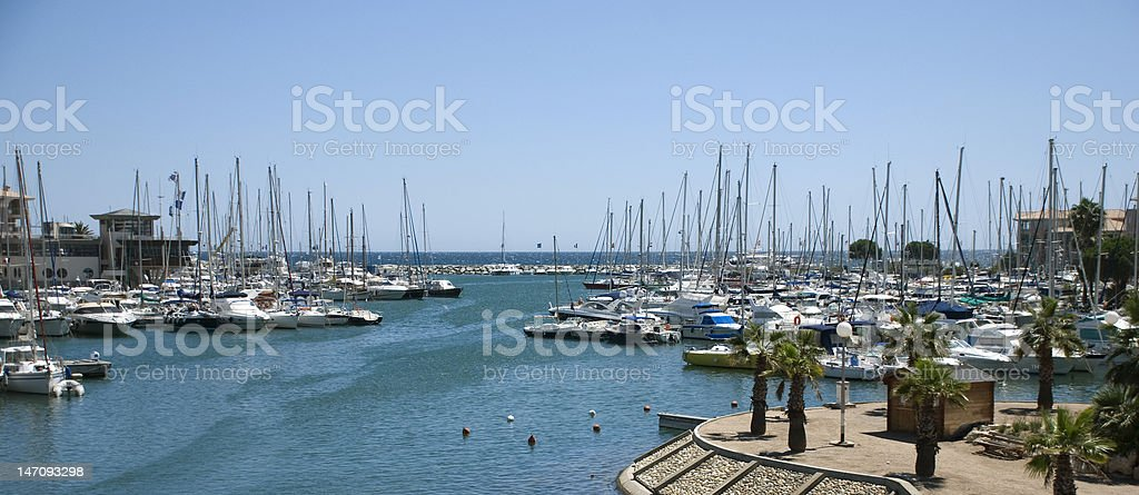 Panorama yacht port royalty-free stock photo
