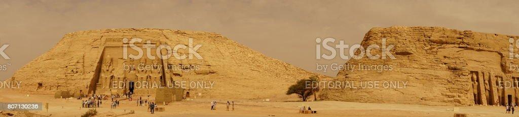 Panoramic  Abu Simbel Hathor stock photo