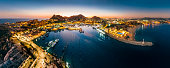 Panoramic Aerial View of Cabo San Lucas Mexico