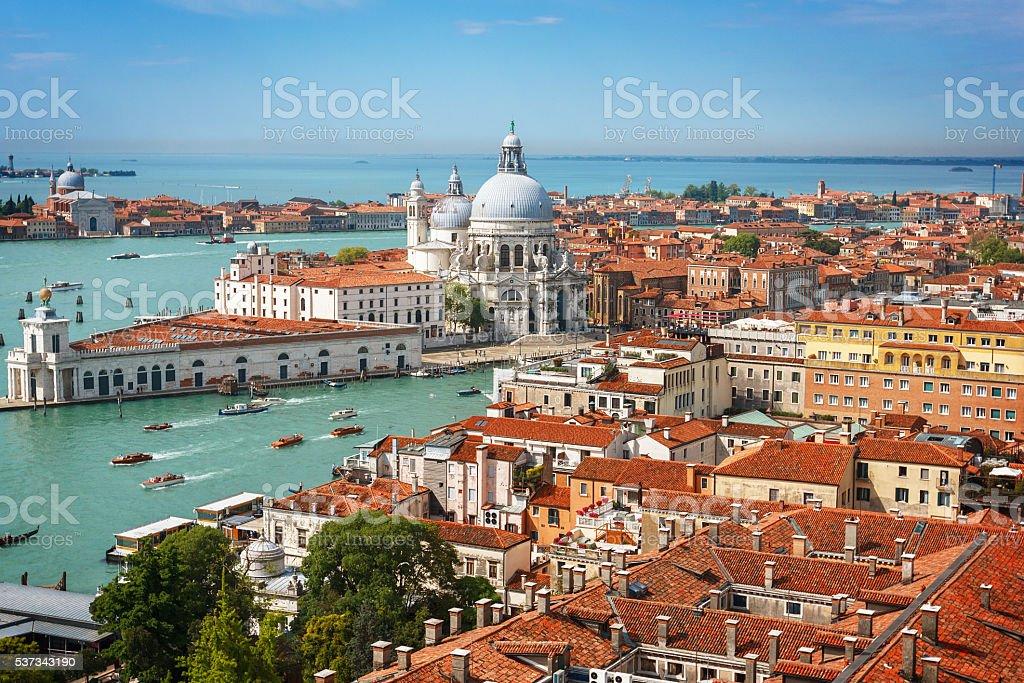 Panoramic aerial view of Venice stock photo