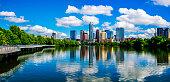 Panoramic Austin Texas Reflections Lady Bird Lake 2015