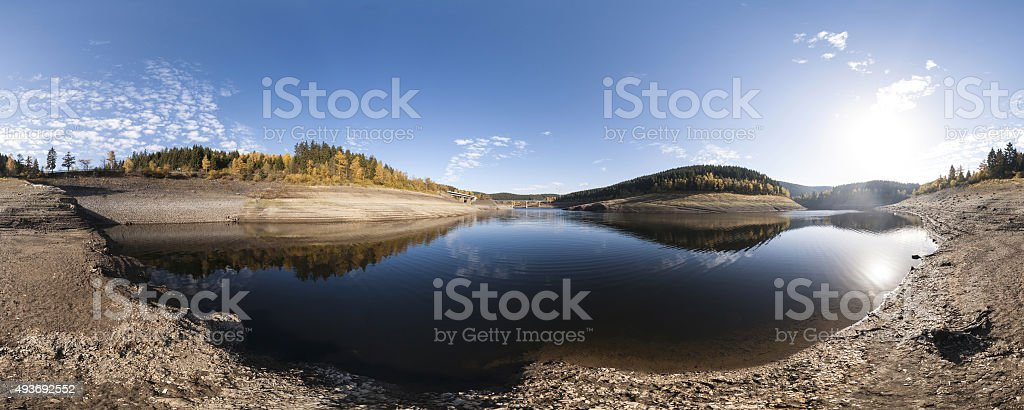 Panoramic autumn landscape in the Harz Mountains stock photo