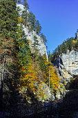 Panoramic Autumn view of Buynovsko gorge, Rhodope Mountains