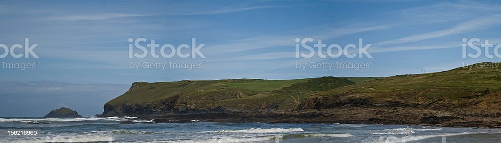 Panoramic Beech View stock photo