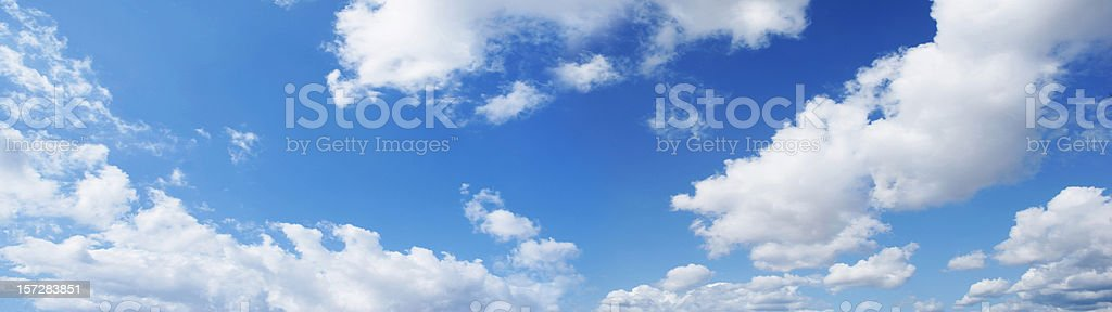panoramic blue sky (skies series) royalty-free stock photo