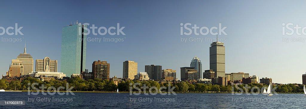 Panoramic Boston Skyline royalty-free stock photo