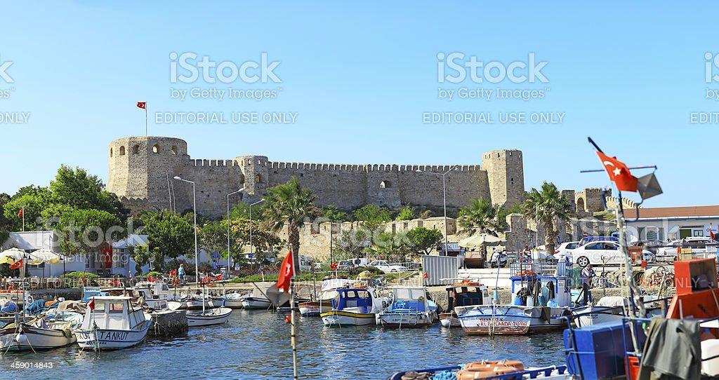 Panoramic Bozcaada (Tenedos) Castle royalty-free stock photo