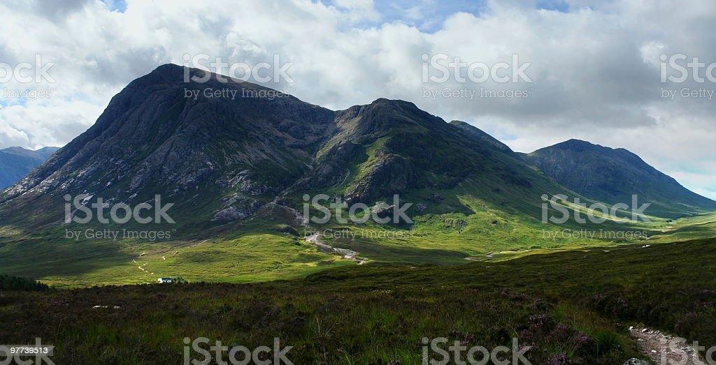 panoramic Buachaille Etive Môr royalty-free stock photo