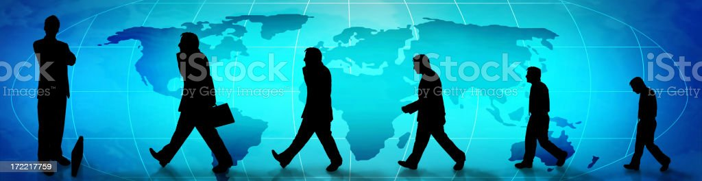 Panoramic Business Evolution royalty-free stock photo
