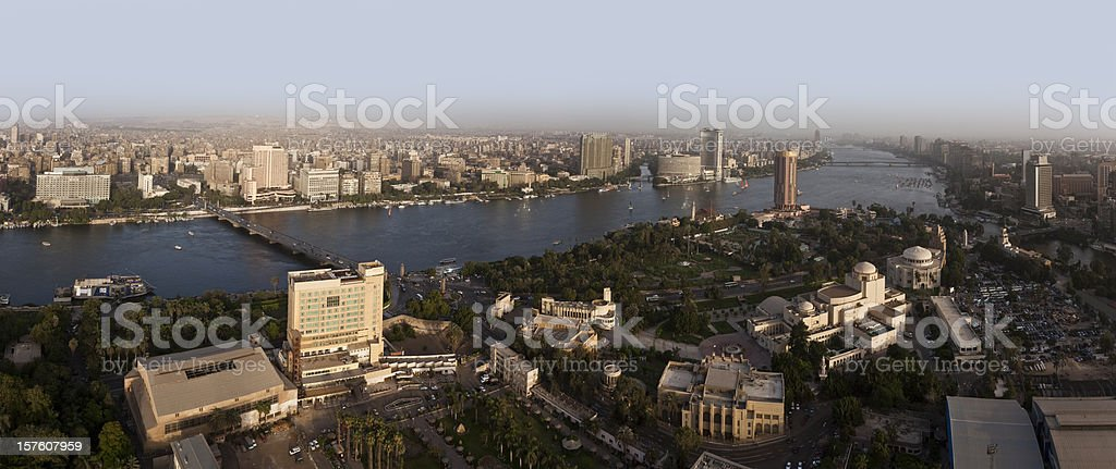 Panoramic Cairo city stock photo