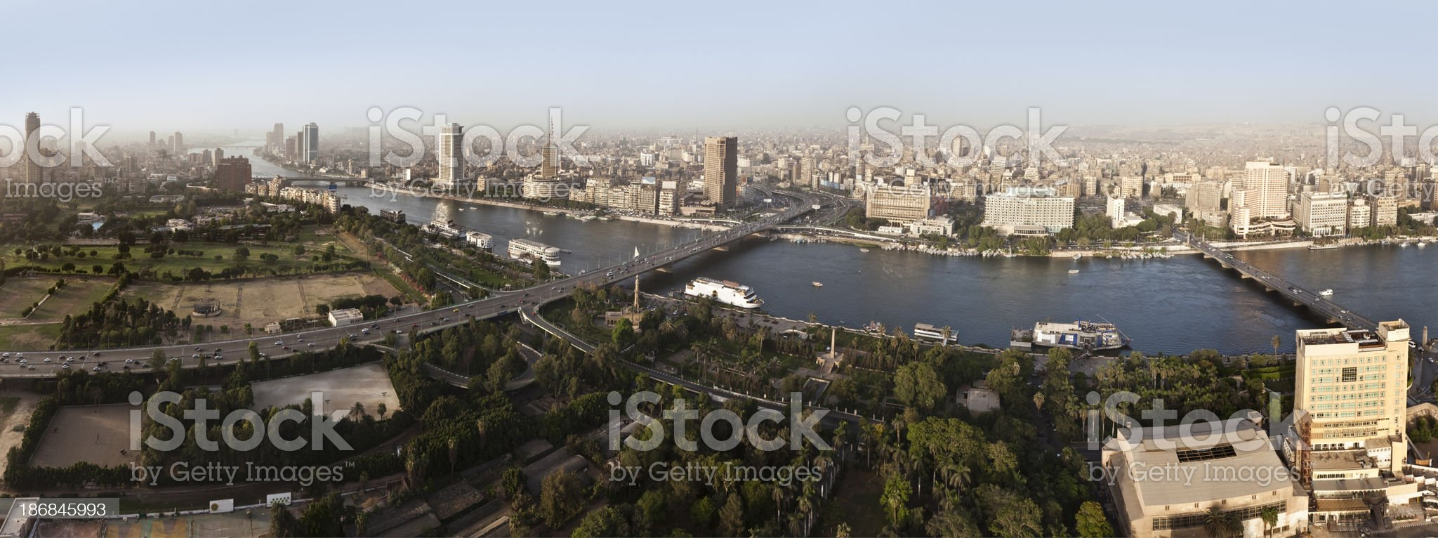 Panoramic Cairo city royalty-free stock photo