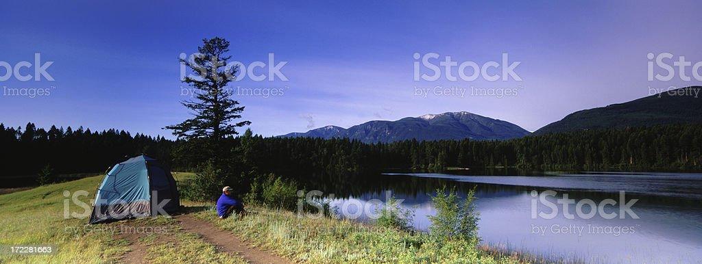 Panoramic Camping royalty-free stock photo