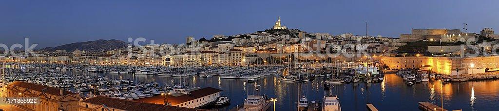 Panoramic cityscape of Marseille stock photo