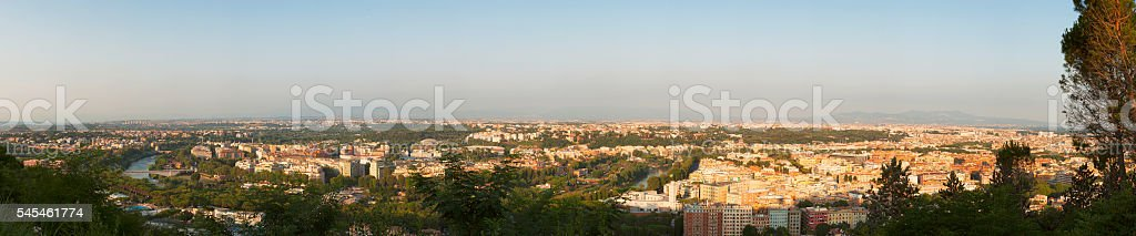 Panoramic Cityscape of Rome, Italy stock photo