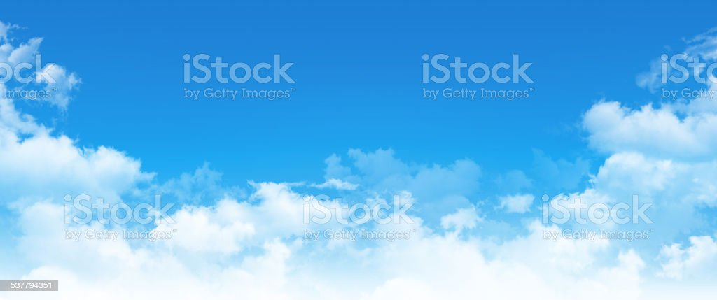 Panoramic cloudscape stock photo
