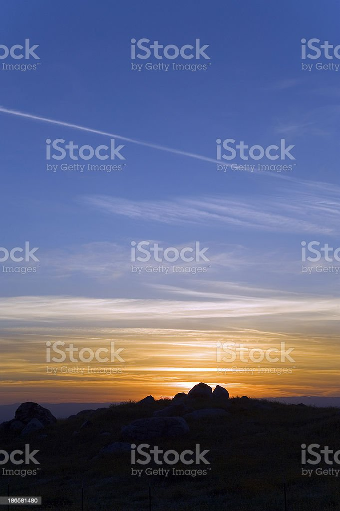 Panoramic Colorful Sunset royalty-free stock photo