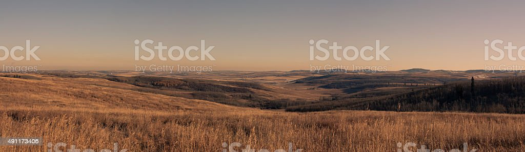 Panoramic Foothills Landscape stock photo