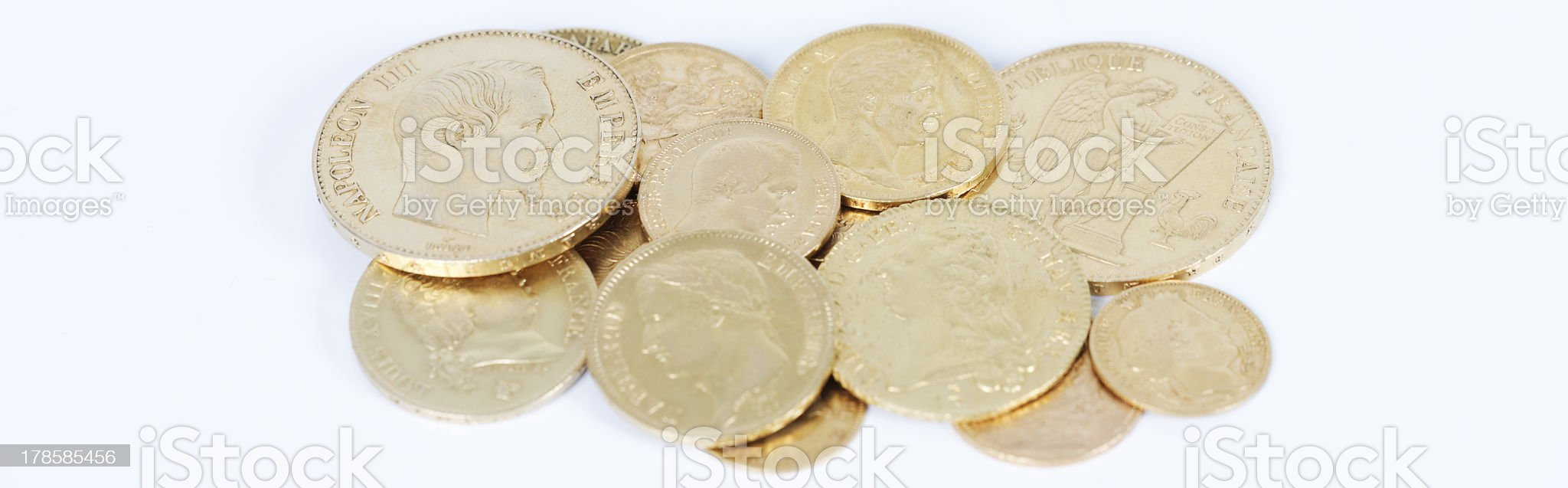 panoramic gold royalty-free stock photo