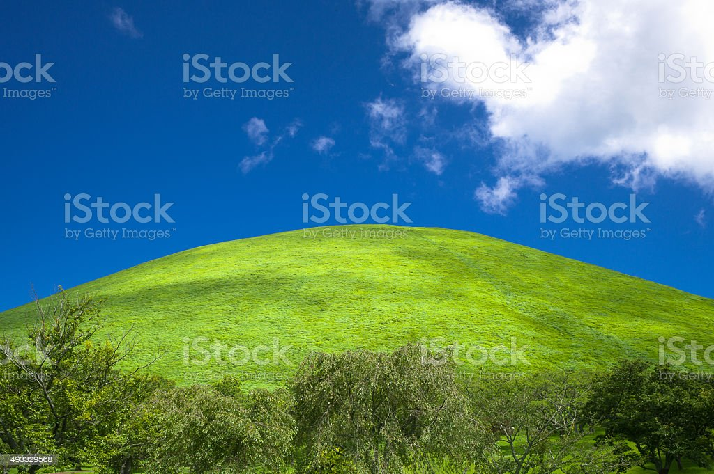 Panoramic Green and Blue View - Japan stock photo