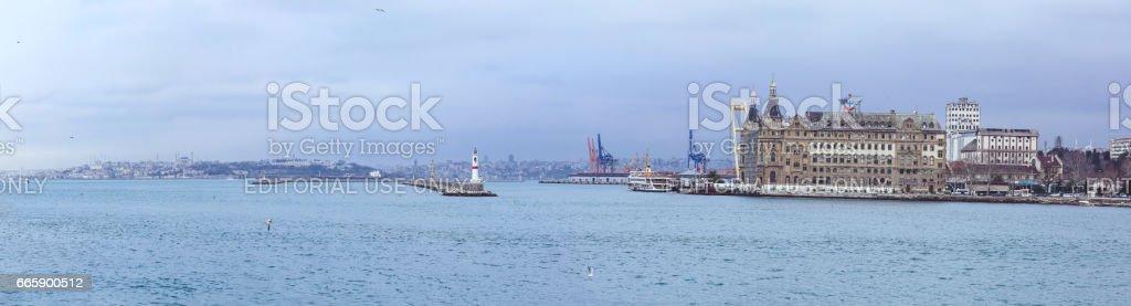 Panoramic Haydarpasa Terminal stock photo