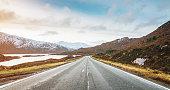Panoramic Highway to Isle of Skye, Highlands Scotland
