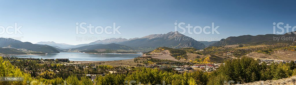 Panoramic Image of Lake Dillon in Summit County, Colorado royalty-free stock photo