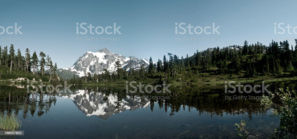 Panoramic image of Mt. Shuksan royalty-free stock photo