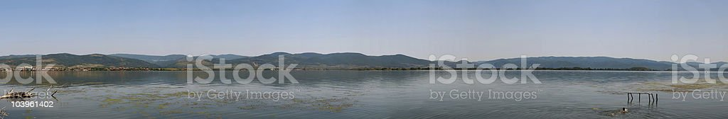 XXXXL panoramic image of River Danube royalty-free stock photo