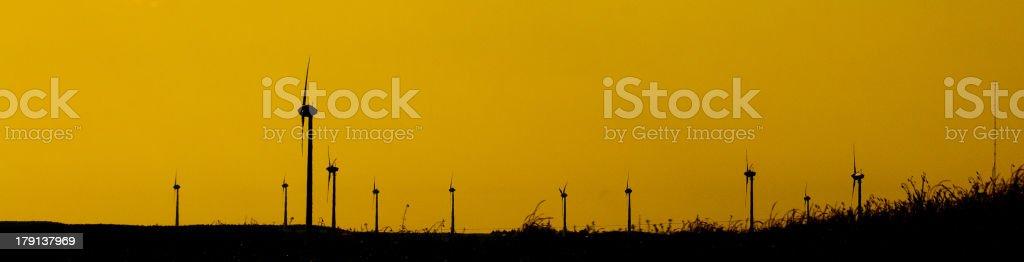 Panoramic image wind energy royalty-free stock photo