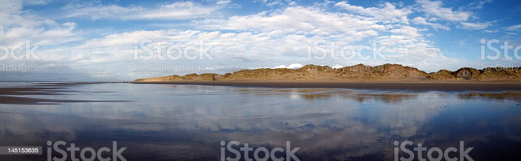 Panoramic in Barmouth. Wales royalty-free stock photo