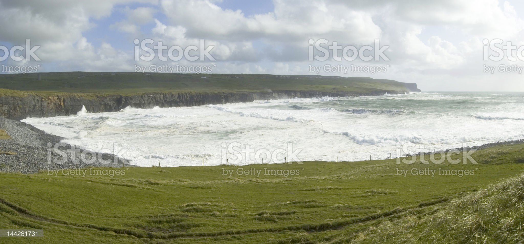 Panoramic in Doolin royalty-free stock photo