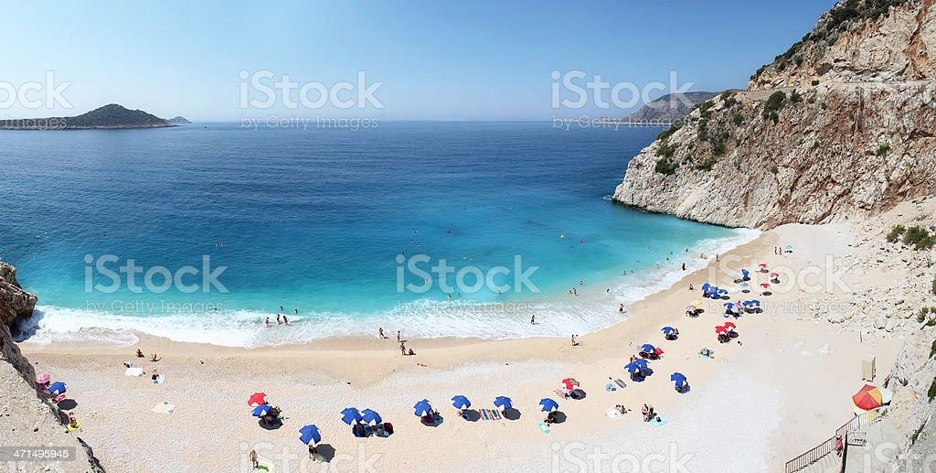 Panoramic Kaputas Beach stock photo