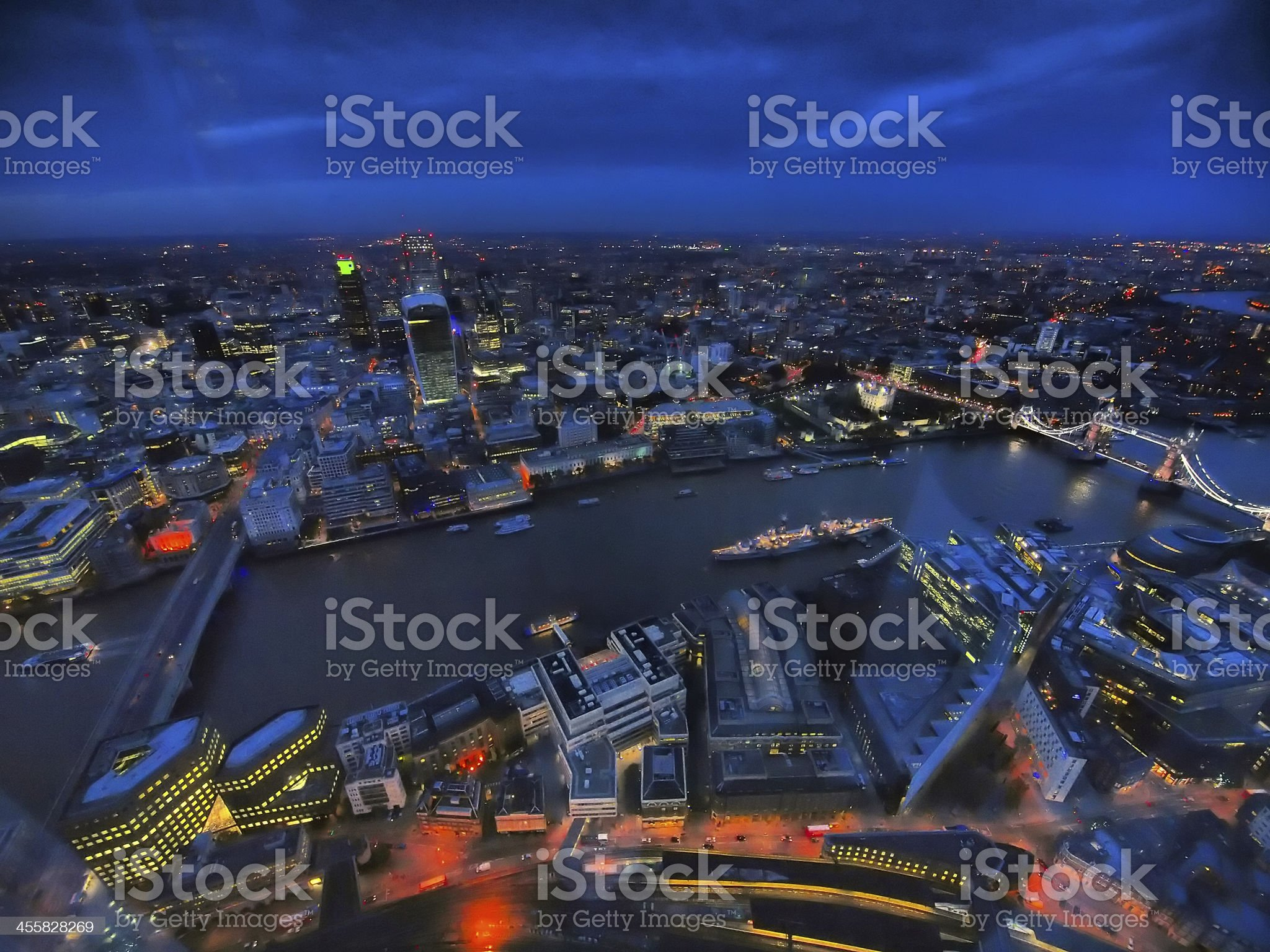 Panoramic London royalty-free stock photo